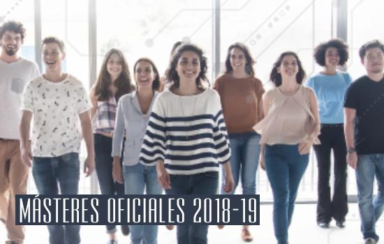 Oferta de Másteres Oficiales 2018/19