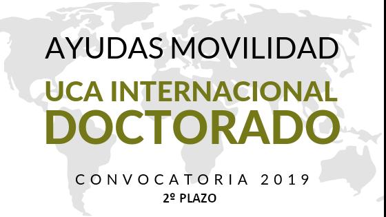 Resolución DEFINITIVA (2º Plazo) Programa de Ayudas de Movilidad para la realización de Estancias de Investigación en Centros Extranjeros de Prestigio Internacional – Convocatoria 2019