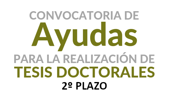 Resolución PROVISIONAL (2º plazo) del Programa de Ayudas a la realización de Tesis Doctorales (Curso Académico 2018-2019)