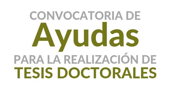 Programa de ayudas para la realización de tesis doctorales. Convocatoria 2020/21